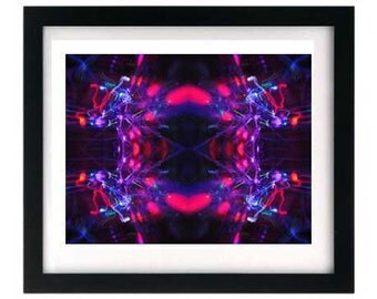 8.5 x 11 Psychedelic Pink Purple Light Painting Print