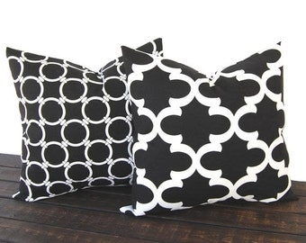 Throw pillow Toss Pillow Cushion Cover Decorative Pillows black and white modern geometric cushion cover pillow shams