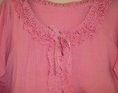 Ladies Ruffle Tshirt Sweater Cardigan SIZE LARGE