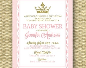 Baby Shower Invitation Burlap Lace Rustic Country Baby Girl