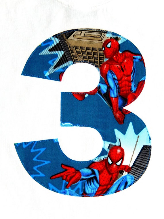 Items similar to Spider-Man Birthday, Spiderman Iron On, Spiderman Applique, Spiderman Patch ...