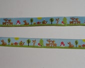 Custom Adjustable collar with forest family ribbon.  available as regular adjustable collar or martingale.