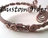 Hammered copper bracelets and anklets