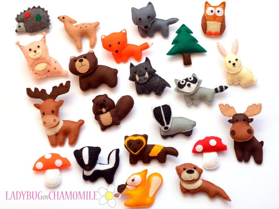 Felt Forest Animals And Items Custom Order