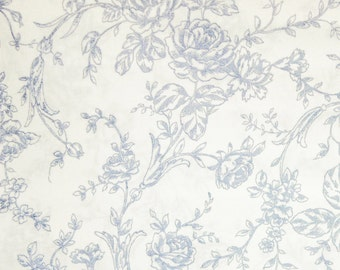 Mary Rose Collection Toile Quilt Gate10 by Robert Kaufman MR-1302-16B Cotton Print Fabric - OOP