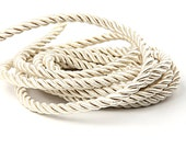 Beige, Twisted Satin Rope, Twisted Silk Cord, Upholstery cord, 1 meter // CRD-018