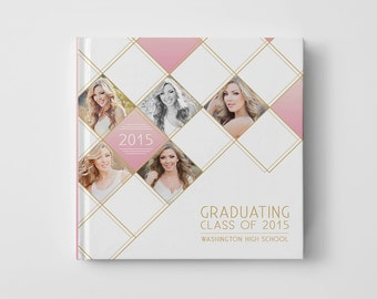 Photo Book Cover Template for Photographers, Senior Album Templates, Senior Photo Book Cover Template, Senior Templates - BC101