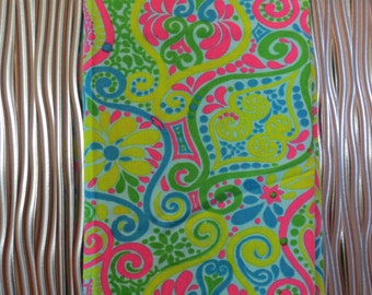 Stehli Silk Corp Fabric, Vintage Stehli Fabric,Paisley Psychedelic Fabric,Hot Pink Lime Green Turquoise,Free Shipping,