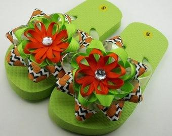 Little Pumpkin Flip Flops- Childs S (Girls 8-9)