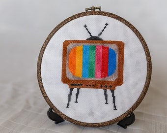 80s Retro TV - Cross Stitch PDF Digital Pattern