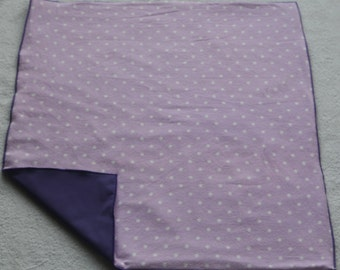 Diaper Changing Pad-Diaper Changing Mat-Waterproof Lavender and White Polka Dot Soft Baby Changing Mat-Purple Changing Mat-Purple Changing