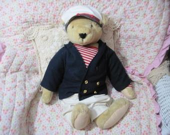 Teddy Bear, Sailor Bear,  North American Bear Company 82, Vanderbear Family, Vintage Teddy Bear, Large Teddy Bear, Toys, Vintage Toys  :)S/