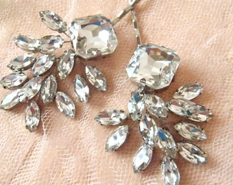 Rhinestone Bobby Pins, Bridal Hair Pins, Hair Accessories, Wedding Hair Pins, Rhinestone Hair Pins