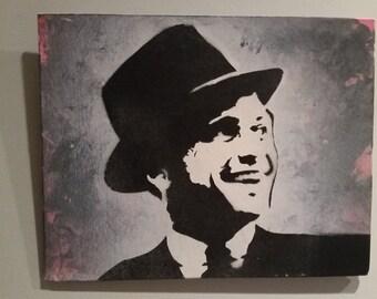 "Frank Sinatra Spray Paint Graffiti Art 8x10 Canvas or 12"" Vinyl"