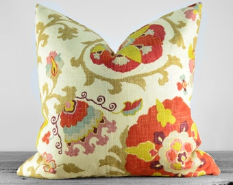 Pillow Cover - P Kaufmann Silsila Curry Fabric - Same Fabric Both Sides - Pick Your Size