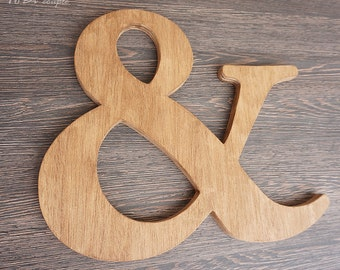 "Rustic Ampersand sign 12 "",  Wooden symbol, Photo props Custom sign"