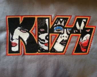 KISS Band Music Cross Stitch Pattern Downloadable files