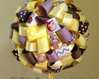 Curious George Ribbon Topiary