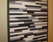 Wood Sculpture, Wall Art, Abstract Art, Grays, White, Black 17 x 21