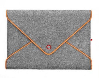 15''Macbook Case Laptop Sleeve Wool Felt Laptop Case for Macbook Pro 15 Inch Retina Leather Edge Bag Envelope Style Tophome Macbook Sleeve