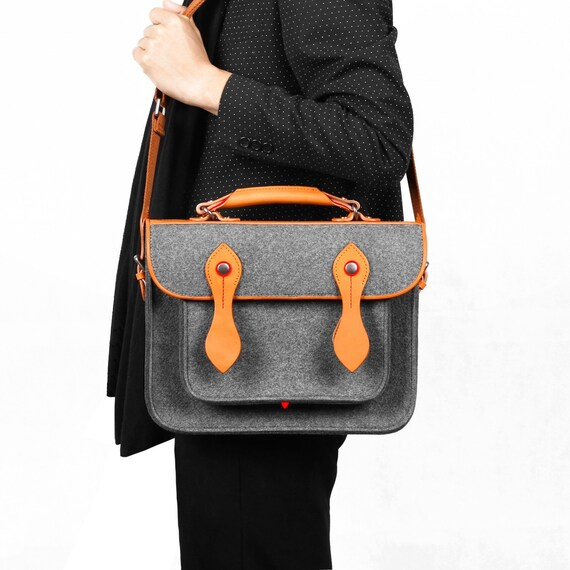 """Shoulder Bag Backpack Macbook Satchel Briefcase with Genuine Leather Handle Laptop Bag for Macbook Pro 15""""Retina Handbag"""
