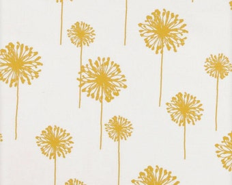 Yellow Table Runner-Modern Yellow & White Dandelion Table Cloth