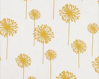 Yellow Table Runner-Modern Yellow & White Dandelion Table Cloth
