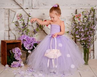 Lavender Flower Girl Wedding Tutu Dress