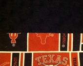 University of Texas (UT) Minky Pillowcase-  Standard/Queen Pillowcase with Minky Body