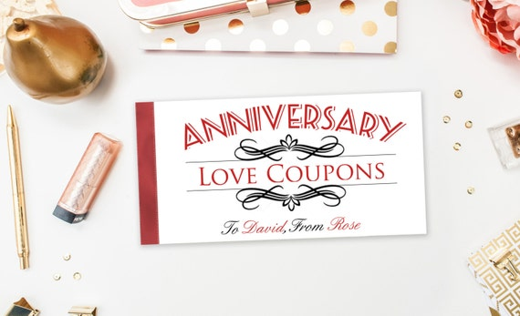Funny Naughty Anniversary Coupons