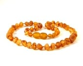 Natural Baltic Amber Baby Teething Necklace Raw Unpolished Beads