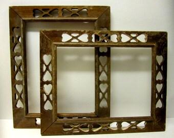 REDUCED - Pair of Vintage Wood Frames