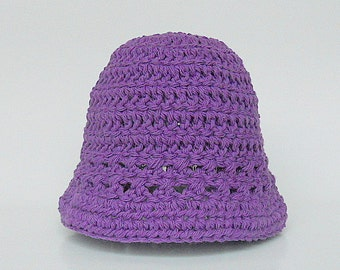 Newborn  Purple  Hat  Baby Boy Violet Spring Cotton  Cap 0 To 3 Month Old Infant  Girl Summer Lavender Lilac Beanie