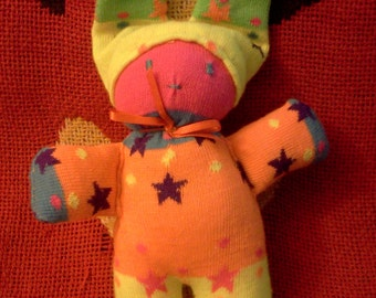 Sock doll baby rattle