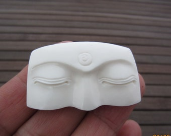New Design Excellent Buddha Eye Carved Bone Cabochon,Buddha Face Cabochon,Embellishment,Jewelry making Supplies B4887
