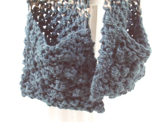 Knitted Hooded Scarf With Pockets Pattern : Hooded Scarf with Pockets Beautiful hand-knit by AquarianDaydreams