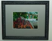 RVA James River Railway Bridge Framed Photo, RVA Grafitti Photo Art, Framed Photography Gift