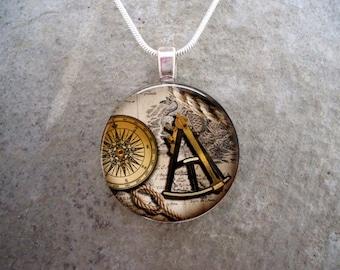 Pirate Jewelry - Glass Pendant Necklace - Pirate 13 - RETIRING 2017