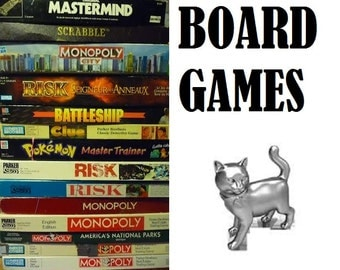 A various assortment of board games from the fifties, sixties, seventies and  eighties-60's,70's,80's