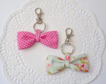 Fabric Bow Keychain.
