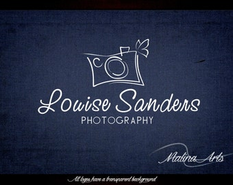 Photography logo and Premade logo. Camera logo. Logo design. Butterfly logo BUY 2 and GET 1 FREE!!!