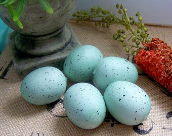 Green Blue Faux Eggs, Bird Eggs, Birds, Eggs, Craft Eggs, Springtime Crafts, Egg Set, Bird Nest Eggs, Embellishments, Nest Eggs, Birds