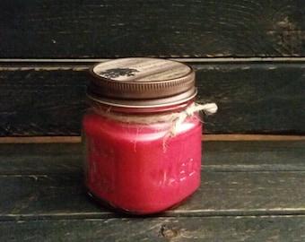 Sweet Orange Chili Pepper Candle 8 oz. Mason Jar