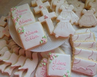 12 assorted Baptism / Christening Cookies