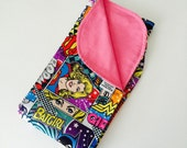 Wonderwoman DC Comics Girl Baby Blanket, Batgirl, Super Girl, Girl Power, Pink