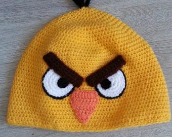 FREE SHIPPING Yellow Angry Bird Crochet Child Hat