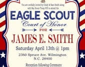 Eagle Scout Invitation, Court of Honor Invitation, Boy Scout Invitation, Digital Invitation