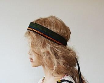 Aztec Hippie Boho Headband, Hair Accessory, Hippie Headband, For Women, Women Accessories, Gift Ideas