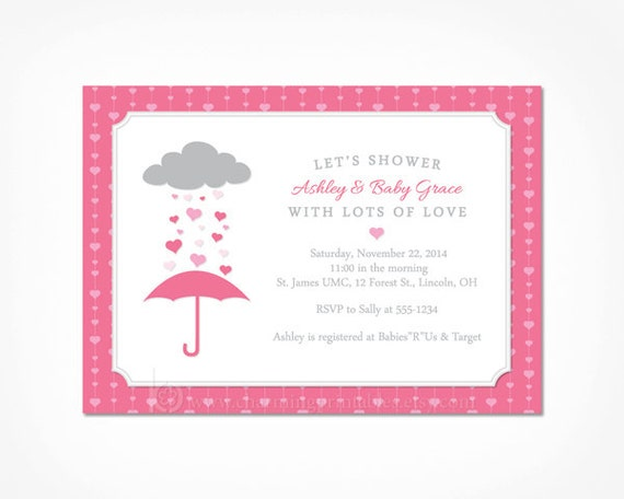 Pink baby shower invitation girl printable invite for pink and il570xn filmwisefo