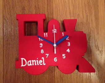 Train Clock - Wooden & can be personalised!